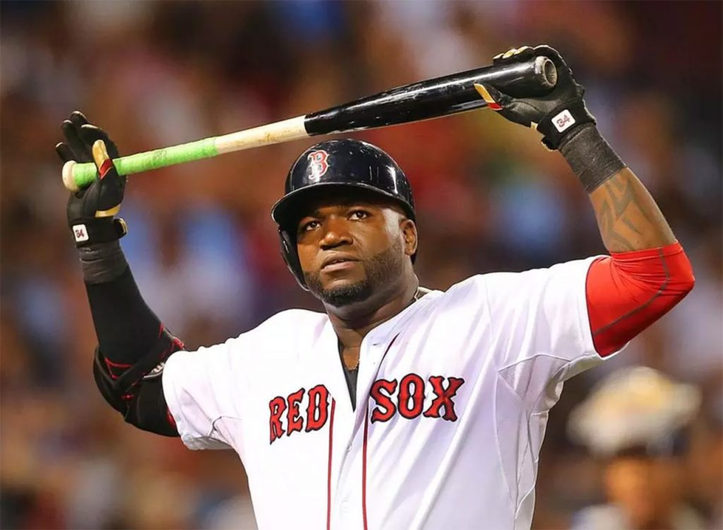 David Ortiz with bat after hitting a home run