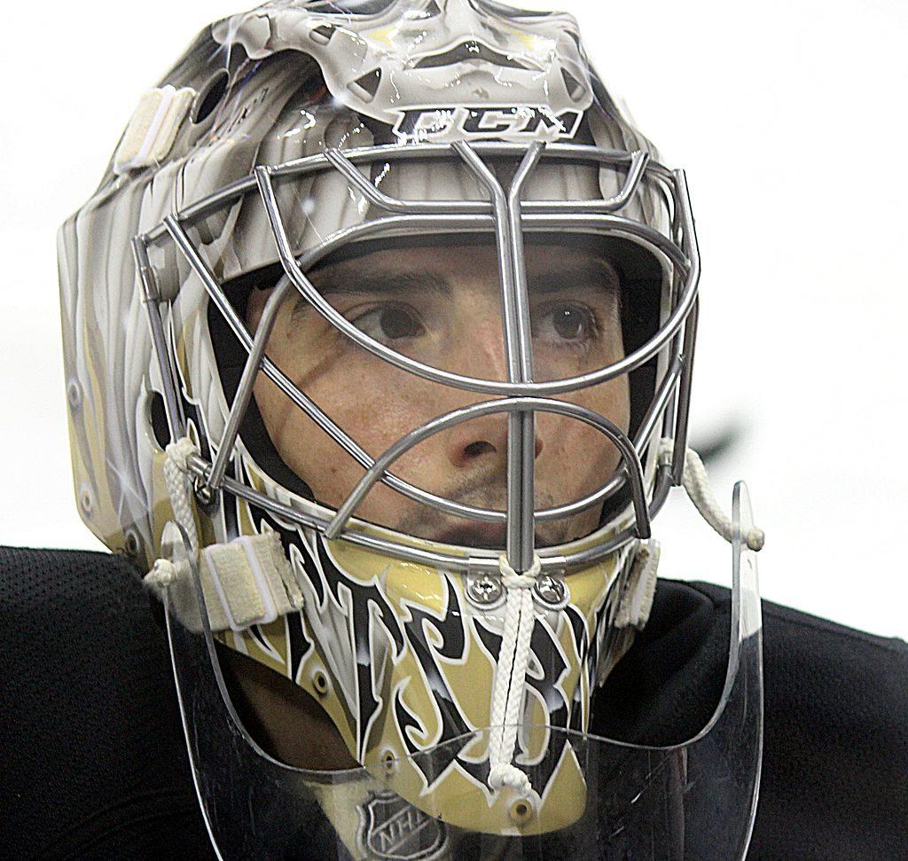 Marc-André Fleury in goaltender mask