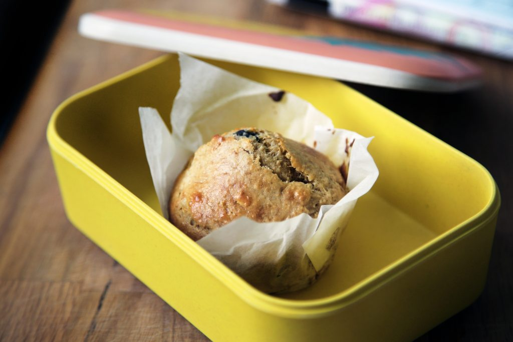 Muffin in a food container