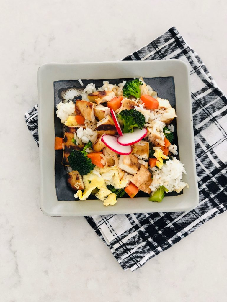 Grilled Tofu Fried Rice Recipe
